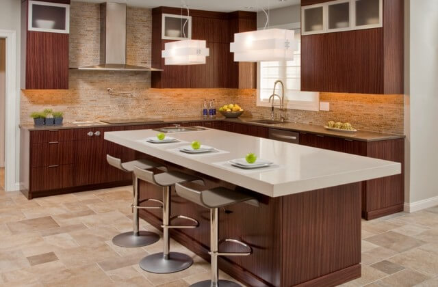Superior Woodcraft Rosewood Contemporary Kitchen Custom