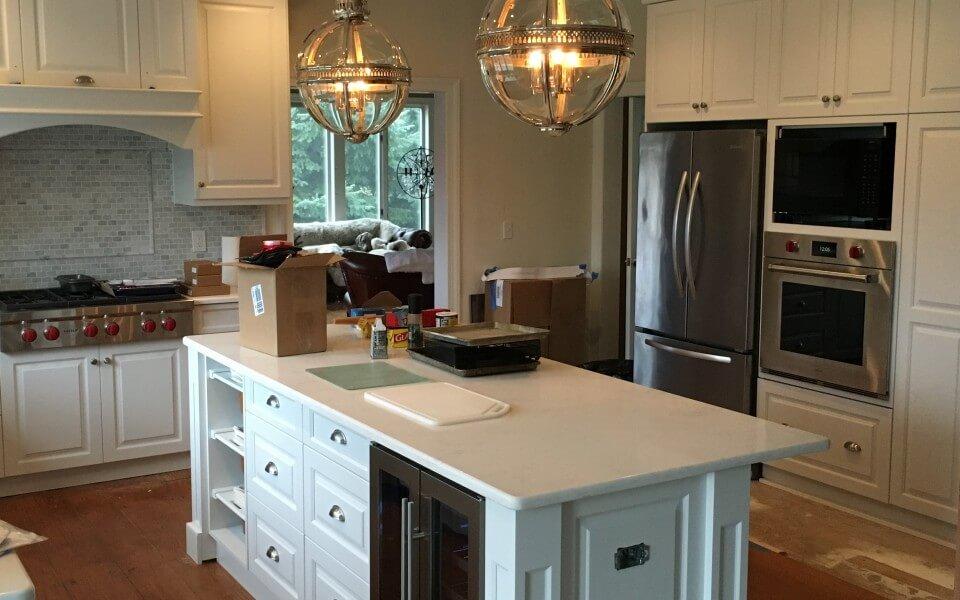Custom Made White Painted Kitchen
