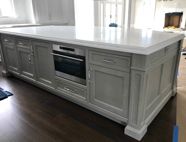 Custom kitchen island by Superior Woodcraft
