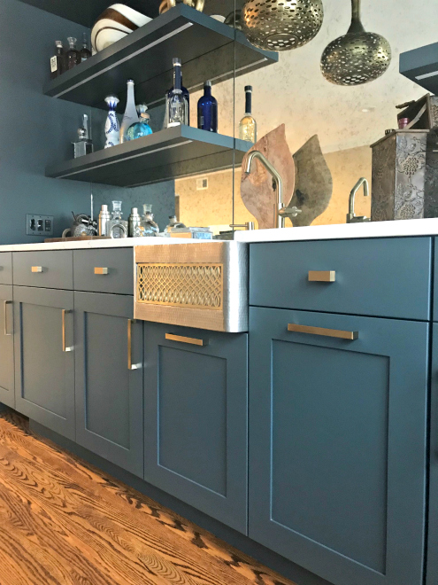 blue wet bar